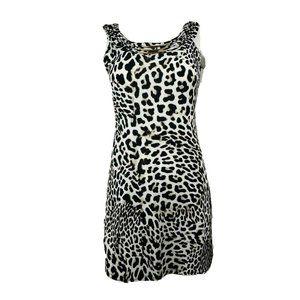 STYLE & CO Black White Animal Print Dress XS
